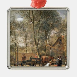 Skittle Players outside an Inn, c.1660-63 Christmas Ornament
