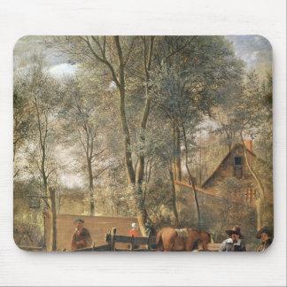 Skittle Players outside an Inn, c.1660-63 Mouse Mat