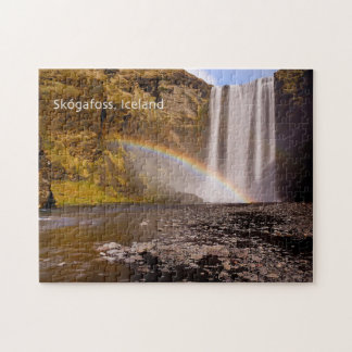 Skógafoss Puzzle with Gift Box