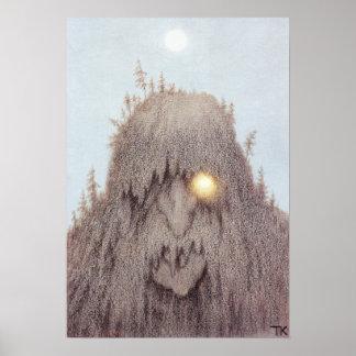Skogtroll Forest Troll Posters