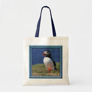 Skomer Island Puffins Budget Tote Bag