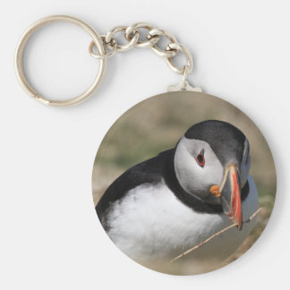 Skomer Island Puffins Keychain