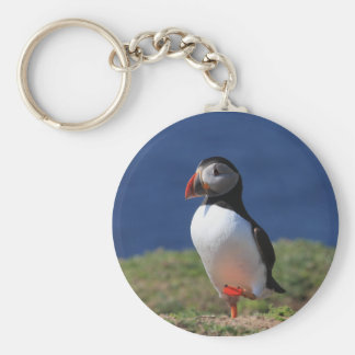 Skomer Island Puffins Basic Round Button Key Ring