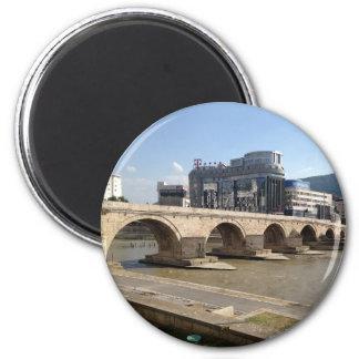 Skopje 6 Cm Round Magnet