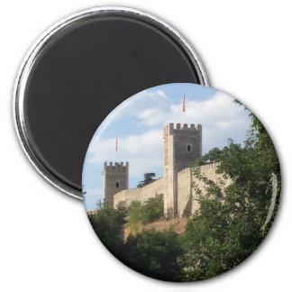 Skopje Castle 6 Cm Round Magnet