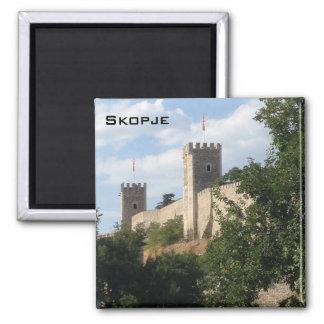 Skopje Castle Square Magnet