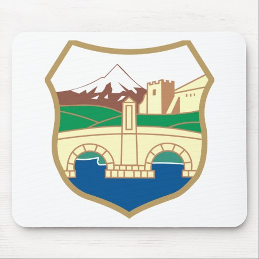 Skopje Coat of Arms Mouse Pads