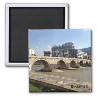 Skopje Square Magnet