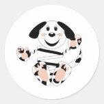 Skrunchkin Dog Pawspot Round Stickers