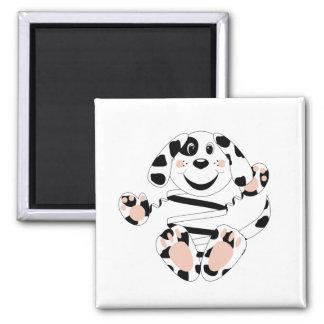 Skrunchkin Dog Spotty Square Magnet