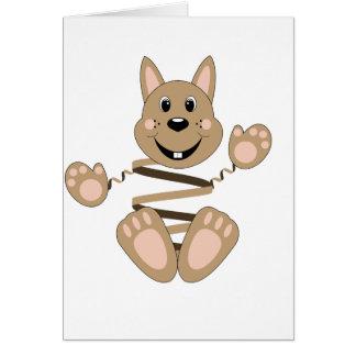 Skrunchkin Rabbit Fudge Greeting Card