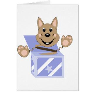 Skrunchkin Rabbit Fudge In Blue Box Greeting Card