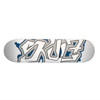 SkuL7 Ivory (Blue) Skateboard Deck