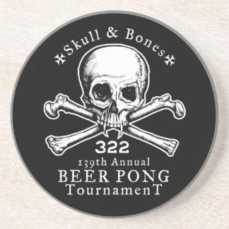 Skul & Bones Beer Pong Gag Coaster