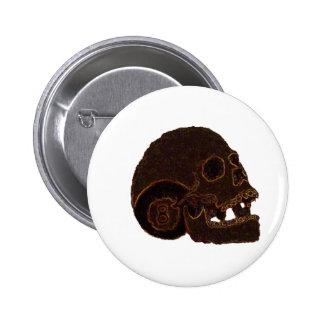 skull2 6 cm round badge