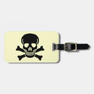 skull 01 luggage tag