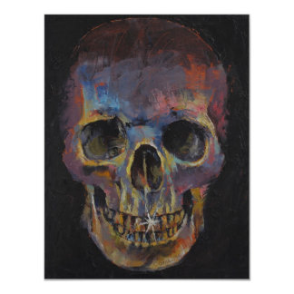 Skull 11 Cm X 14 Cm Invitation Card