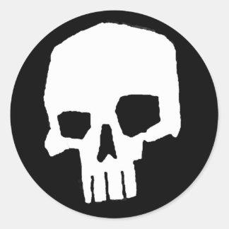 Skull 20 round sticker