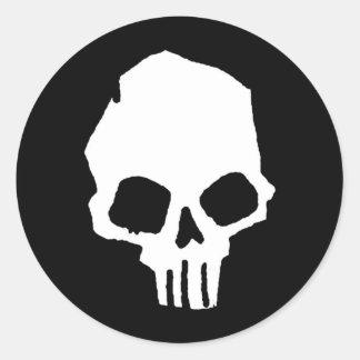 Skull 25 classic round sticker