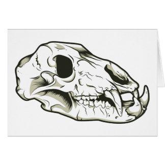 Skull 2 Skulls Skeleton Mammal Animal Cards