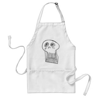 skull 2 standard apron