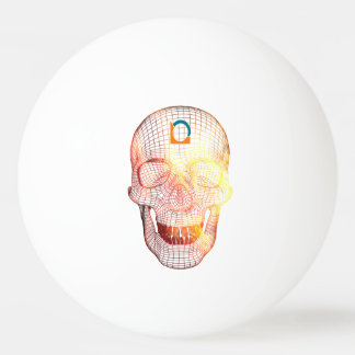 Skull 3D colored Ping Pong Ball
