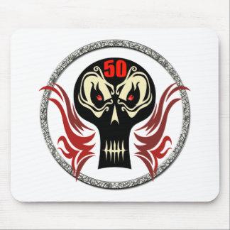 Skull 50th Birthday Gifts Mousepad