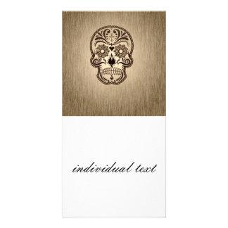 skull 5 customised photo card