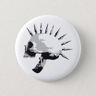 skull 6 cm round badge