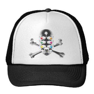 Skull 6 Eyes negative Trucker Hats