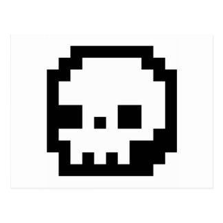 Skull 8-Bit Pixel Art Postcard