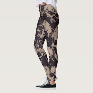 Skull Abstract Pattern Leggings
