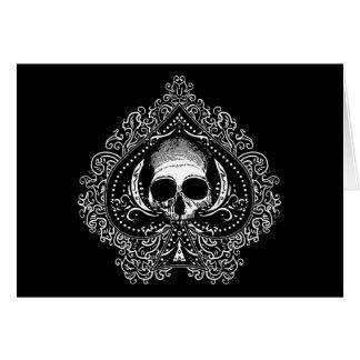 Skull Ace of Spades Card