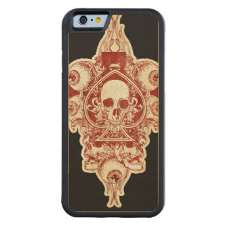 Skull ace of spades carved® maple iPhone 6 bumper case