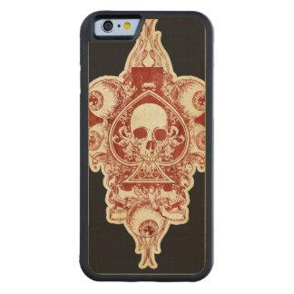 Skull ace of spades maple iPhone 6 bumper case