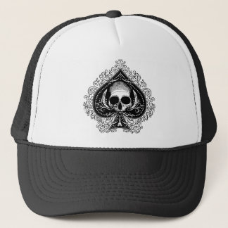 Skull Ace of Spades Trucker Hat