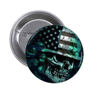 Skull America Soldier Dead Zombie 6 Cm Round Badge