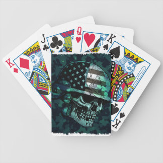 Skull America Soldier Dead Zombie Bicycle Playing Cards
