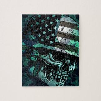 Skull America Soldier Dead Zombie Jigsaw Puzzle
