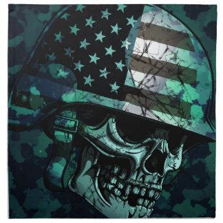 Skull America Soldier Dead Zombie Napkin