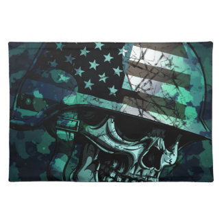 Skull America Soldier Dead Zombie Placemat