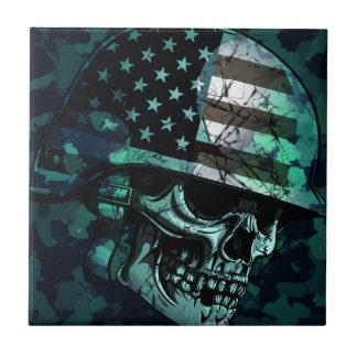Skull America Soldier Dead Zombie Tile