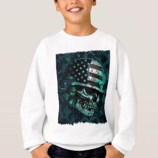 Skull America Soldier Skeleton Dead Zombie Sweatshirt