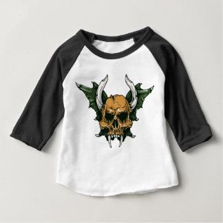 Skull American Apparel 3/4 Sleeve Raglan T-Shirt