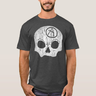 Skull Anarchy Charcoal Heather Grey T-Shirt