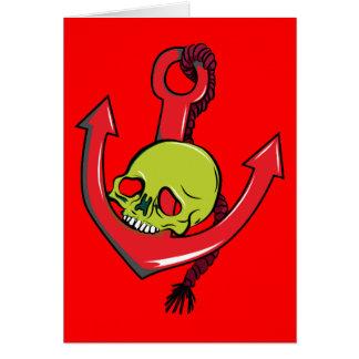 Skull ~ Anchor Tattoo Skull Fantasy Art Note Card