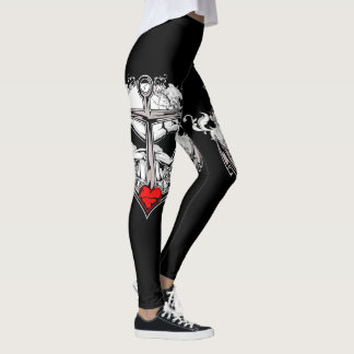 Skull and Anchor Leggings