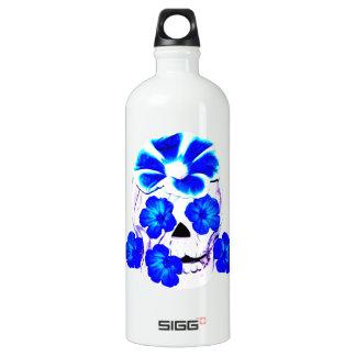 Skull and Blue Flowers SIGG Traveller 1.0L Water Bottle