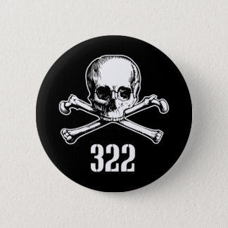 Skull and Bones 322 6 Cm Round Badge