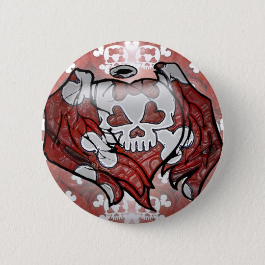 Skull and Bones 6 Cm Round Badge